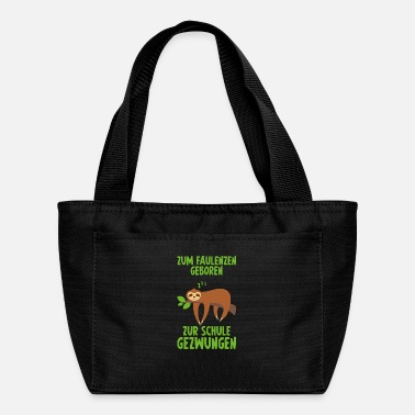 Lazy Born to be lazy gift sloth Lounger - Lunch Bag