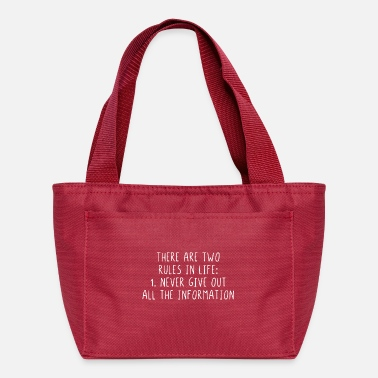 Sarcasm Quote There are two rules in life never give out all - Lunch Bag