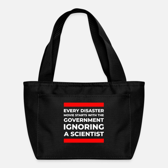 Catastrophe Bags & Backpacks - Disaster movie government ignoring scientist black - Lunch Box black