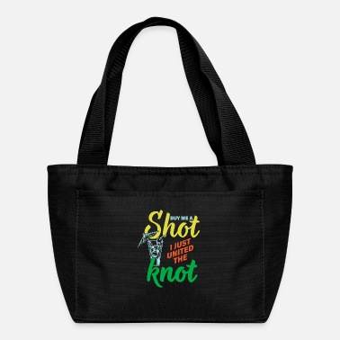 Cheers Shot knot divorce single relationship ex gift - Lunch Bag