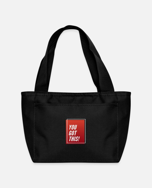 Design Lunch Boxes - You Got This...! - Lunch Bag black
