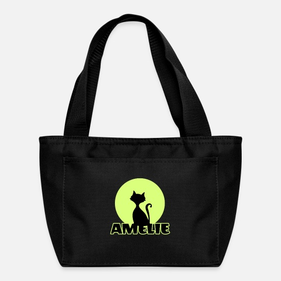Birthday Bags & Backpacks - Amelie first name birthday gift. - Lunch Box black
