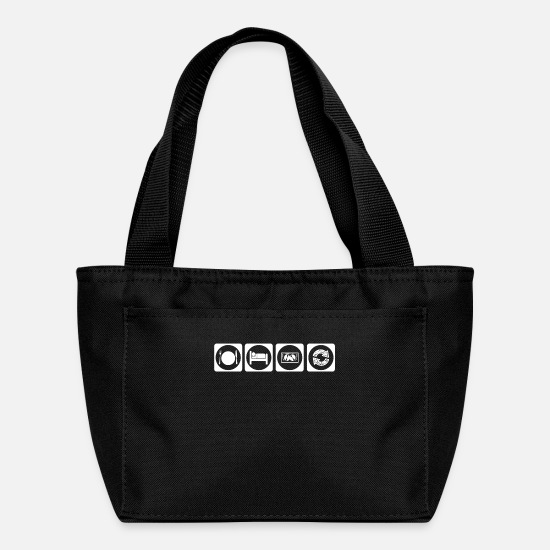 Techno Bags & Backpacks - geschenk eat sleep repeat TECHNO DJ ELECTRO - Lunch Box black