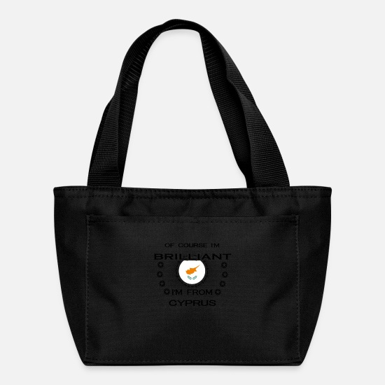 Love Bags & Backpacks - I AM GENIUS BRILLIANT CLEVER CYPRUS - Lunch Box black