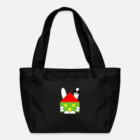 Easter Bags & Backpacks - Rabbit and house - Lunch Box black