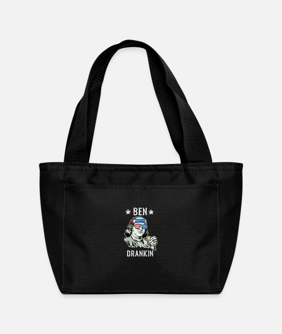 July Fourth Bags & Backpacks - 4Th Of July Ben Drankin Benjamin Franklin Tee Funn - Lunch Bag black