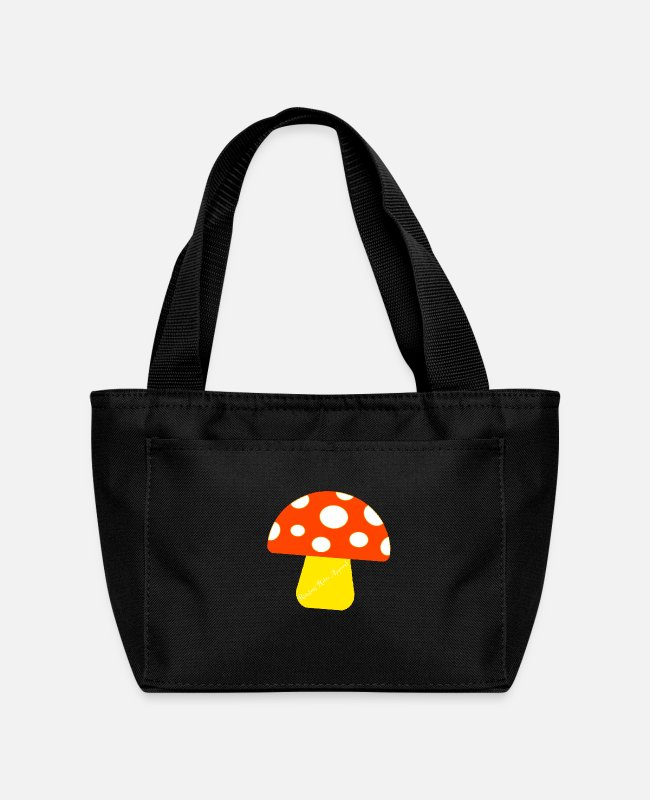 "Fan Lunch Boxes - ""Ramseys Mushroom"" - Lunch Bag black"
