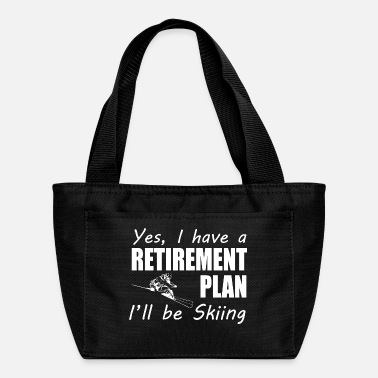 Skiing I Have A Retirement Plan I ll Be Skiing T Shirt - Lunch Box