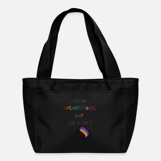 Love Bags & Backpacks - WitchUtopia Infinite - Unconditional Love - Lunch Bag black