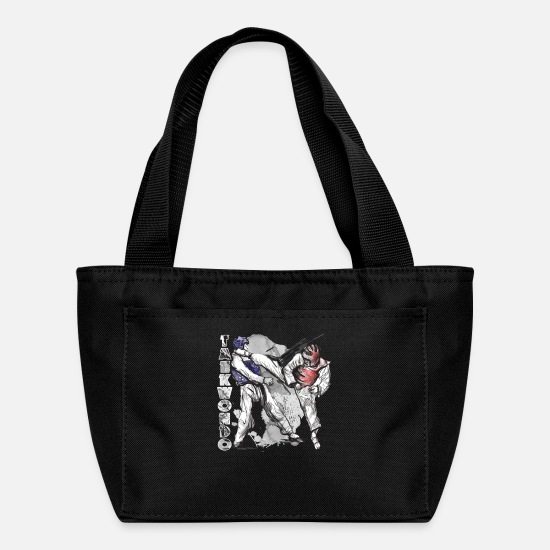 Tae Kwon Do Bags & Backpacks - taekwondo tee shirt - Lunch Bag black