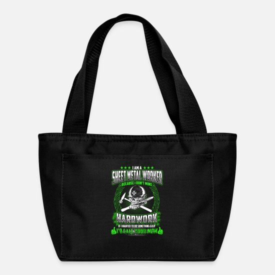 Sheet Bags & Backpacks - I Am A Sheet Metal Worker - Lunch Bag black