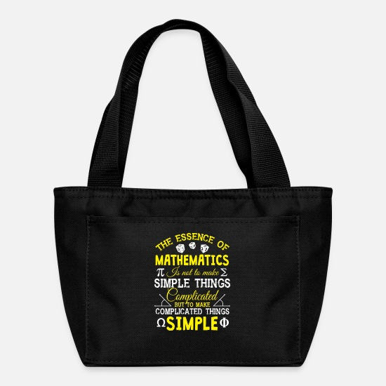 Mathematics Bags & Backpacks - The Essence Of Mathematics T Shirt - Lunch Bag black