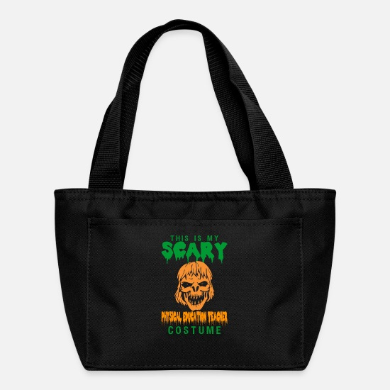 Education Bags & Backpacks - Halloween This My Scary PE Teacher Costume - Lunch Bag black