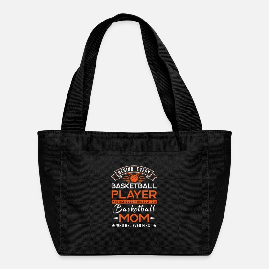 Cool Bags & Backpacks - Behind every Basketball player is a Basketball mom - Lunch Bag black