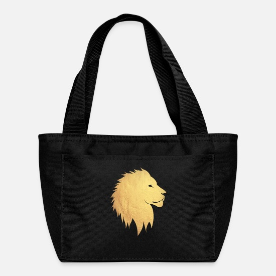 Gold Bags & Backpacks - gold lion - Lunch Box black