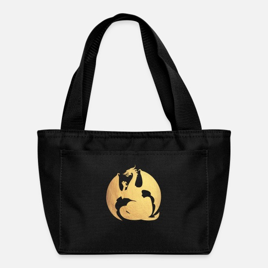 Gold Bags & Backpacks - gold dragon - Lunch Box black