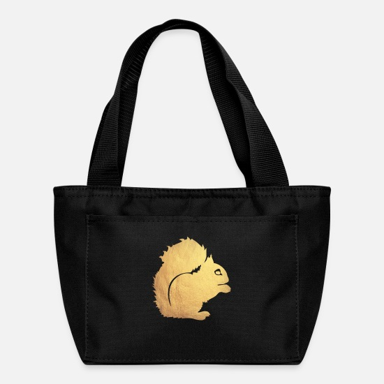 Gold Bags & Backpacks - gold squirrel - Lunch Box black