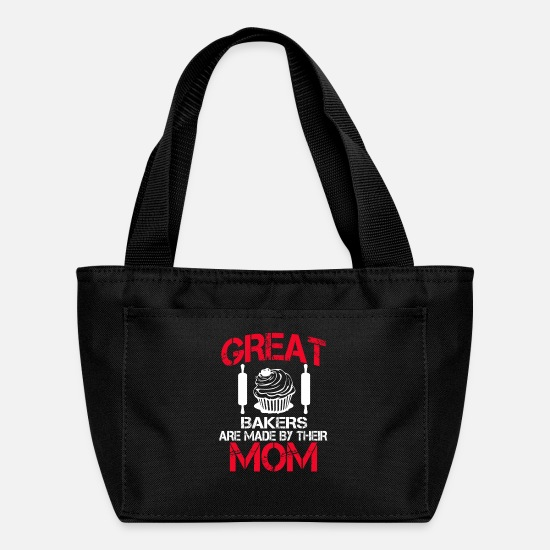 Mummy Bags & Backpacks - Great Baker Are Made By Their Mom - Lunch Bag black