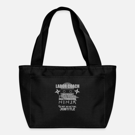 Present Bags & Backpacks - Labor Coach Joke - Lunch Bag black