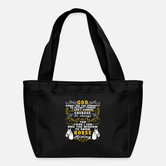 Ride Bags & Backpacks - The Wisdom To Know Horse Riding T Shirt - Lunch Box black
