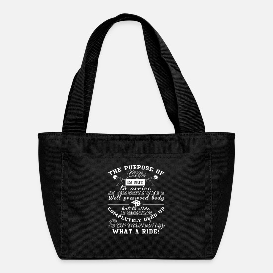 Motorcycle Bags & Backpacks - The Purpose Of Life Funny Biker T Shirt - Lunch Box black