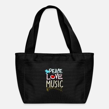 Cute Peace Love Music Hippie Hipster Festival - Lunch Bag
