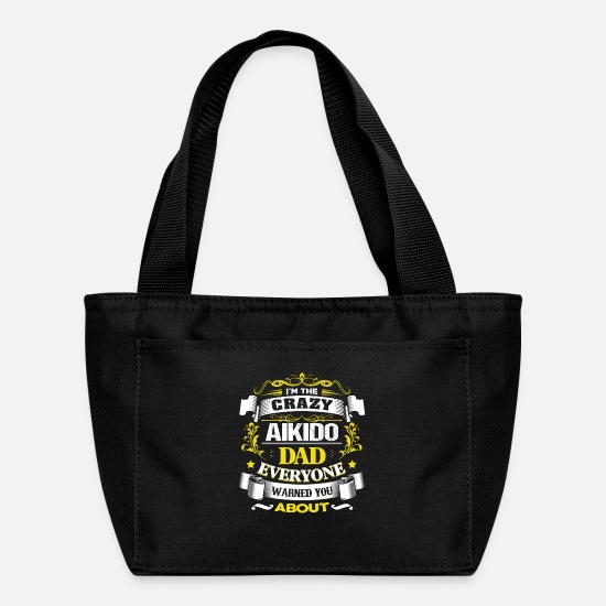 Aikido Bags & Backpacks - Cool Aikido Dad fathers Day Gift Idea - Lunch Box black