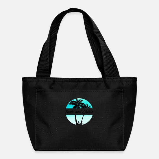 Beach Bags & Backpacks - Turks and Caicos Caribbean Palm Trees Souvenir Vacation Travel Design - Lunch Bag black