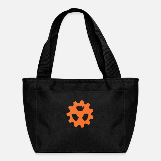 Radioactive Bags & Backpacks - Copper Radioactive COG Wheel Symbol - Lunch Box black