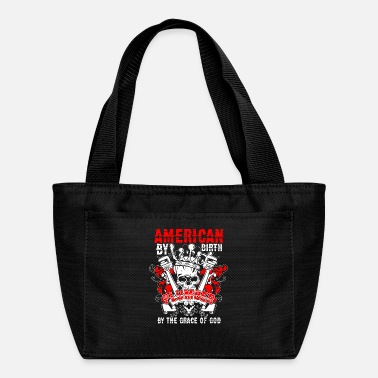 American By Birth Plumber T Shirt - Lunch Bag