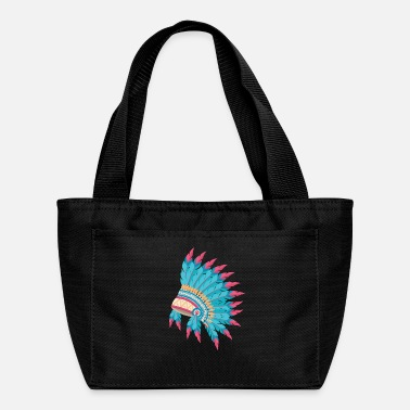 Native American Indian Chief Feather Headdress - Lunch Bag