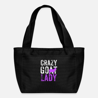 Crazy Goat Lady Purple, Goat Lover, Goat Gift, Farm Life, Farm Girl - Lunch Box