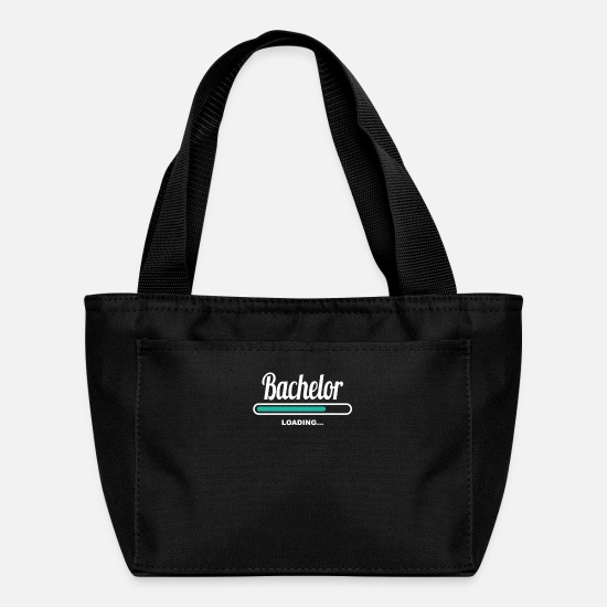Bachelorette Party Bags & Backpacks - BACHELOR LOADING - FANTASTIC TEES FOR BACHELORS - Lunch Bag black