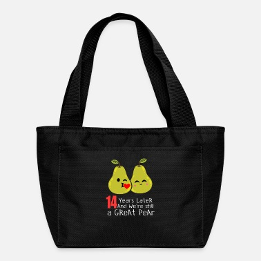 14th 14th Wedding Anniversary Funny Pear Couple Gift - Lunch Bag