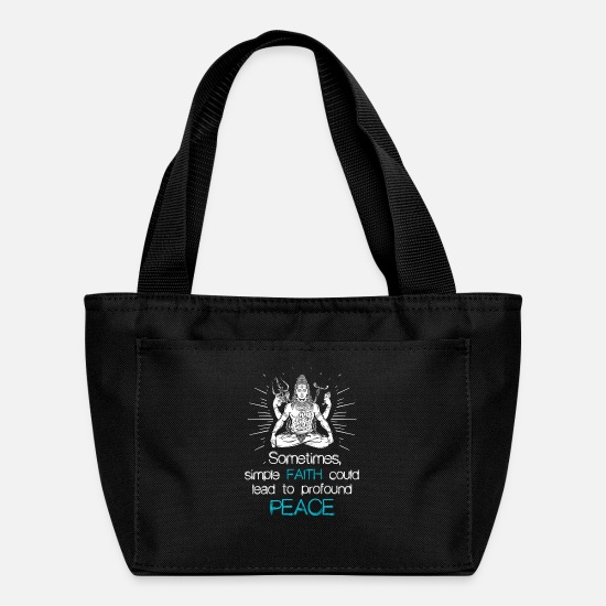 Hindu Bags & Backpacks - Shiva Faith Religion Hindu gift - Lunch Bag black