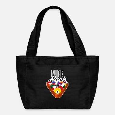 Nice Rack Pool Balls Graphic Pool Gift Billiard - Lunch Bag