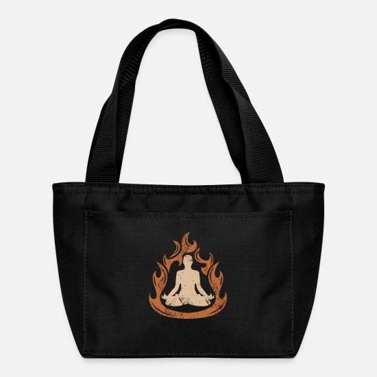 Meditation Bags & Backpacks - Meditation Yoga Meditate Soul Body - Lunch Box black