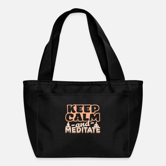 Meditation Bags & Backpacks - Keep Calm and Meditate gift Meditation - Lunch Box black