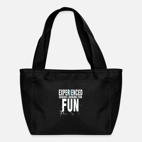 Senior Bags & Backpacks - Cool quote t-shirt - Lunch Bag black