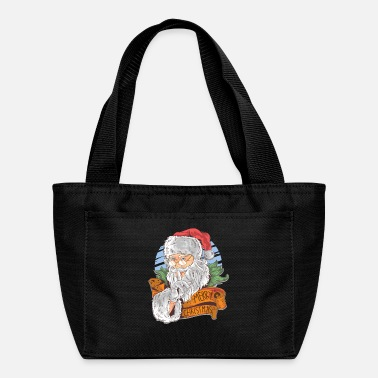 Christmas Merry Christmas with vintage Santa Claus - Lunch Box