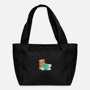 Dino Geek Book Dino Dinosaur Bookworms Geeks Literature - Lunch Bag