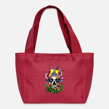 Hippie Festival Psychedelic Skull Magic Mushrooms Hippie Festival - Lunch Bag