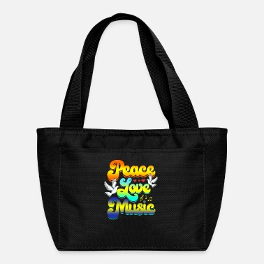 Peace Love Music Rave Festival Musical Hippie - Lunch Bag