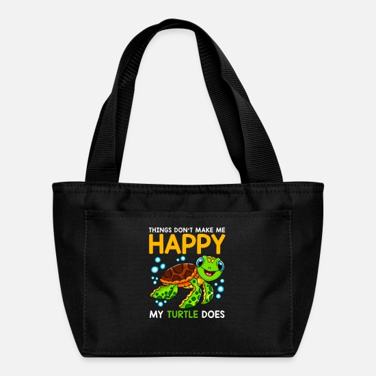 Turtle Bags & Backpacks - Things Don't Make Me Happy My Turtle Does - Lunch Box black