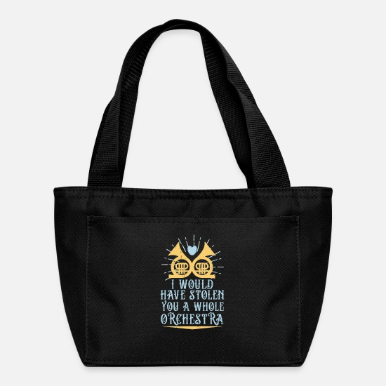 Horns Bags & Backpacks - French Horn Player Marching Band Orchestra Concert - Lunch Bag black