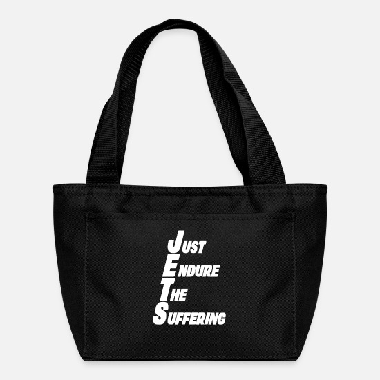 New Bags & Backpacks - Jets Just Endure The Suffering Funny New York Foot - Lunch Box black