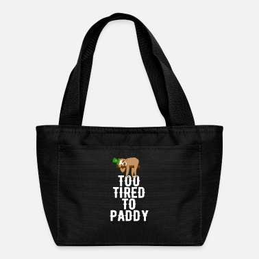 Funny Christmas Too Tired To Paddy Sloth St Patricks Day Lazy - Lunch Box