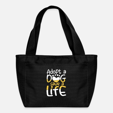 Rap Adopt a Dog save a Life | cute dog owners gift - Lunch Box