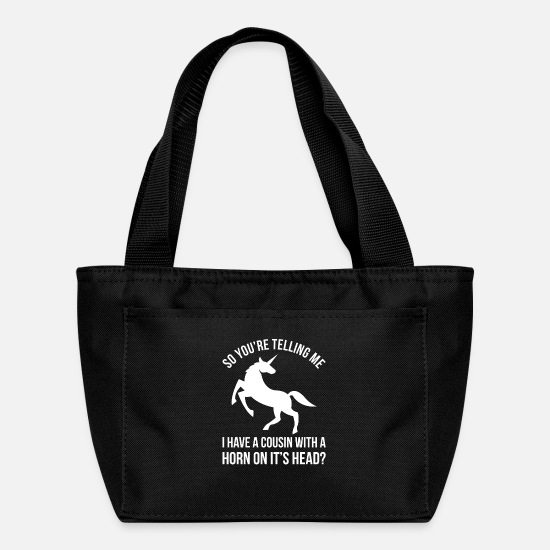 Pet Bags & Backpacks - Meme Horseshoer Farrier Design Quote Horn In Head - Lunch Bag black