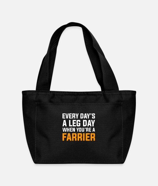 Pet Bags & Backpacks - Sarcastic Horseshoer Farrier Design Quote Leg Day - Lunch Bag black
